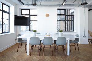 distribución oficina moderna